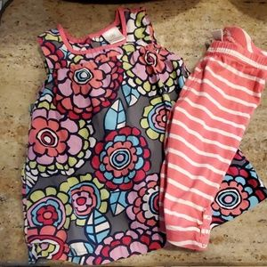 Hanna Andersson outfit Tank & Capris 6-12Mnths/70